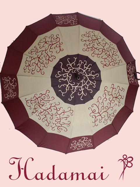 HADAMAI: Paraguas fantasia granate