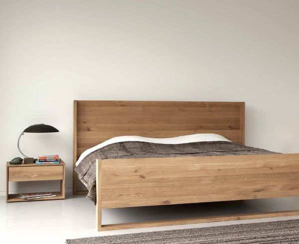 The Ethnicraft Oak Nordic Queen Size Bed Is Made From Sustainable Solid  European Oak Timber. Available In King Size And Queen Size With Slats  Provided.