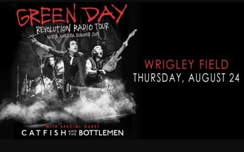 #tickets (2) GREEN DAY Tickets Wrigley Field Chicago Thursday 8/24/17 Section 415 please retweet