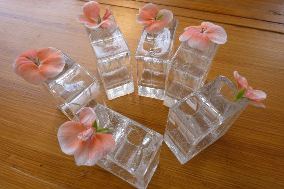 Vintage Lucite Napkin Rings MidCentury Clear by ZoomVintage