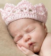 """Princess"" hand made crochet crown"