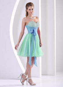 Beaded Sweetheart Muti-color Young Bridesmaid Dresses with Sash beautiful outdoor bridesmaid dress with sweetheart
