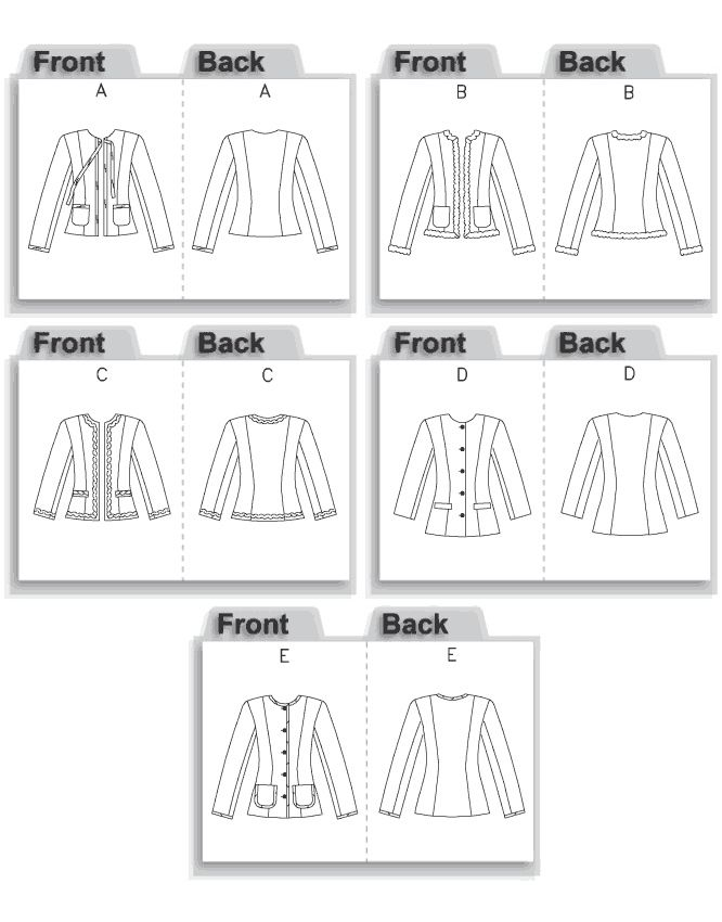 69 best Patterns - Jackets images on Pinterest | Jackets, Sewing ...