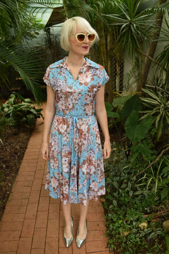 Stitches of Melbourne Vintage Eighties dress by GingerPopVintage