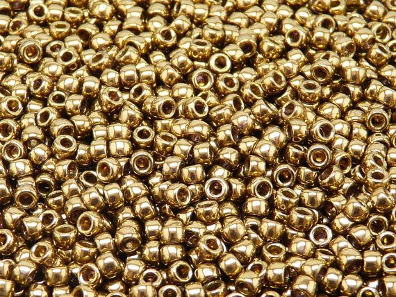 MATUBO Czech Glass Seed Beads 7/0 3.5mm 10 gr by ScaraBeads