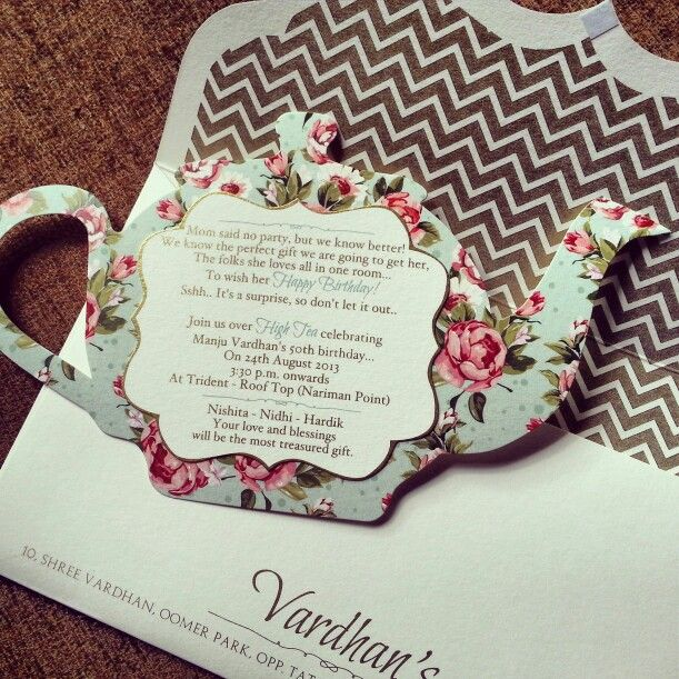 Custom Tea Party Invitations With
