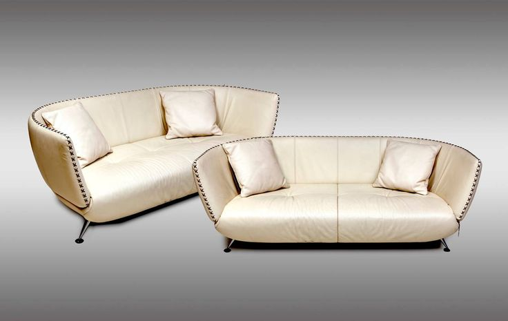 Two Ivory Leather de Sede Sofas with Original Suede Cushions, 1980s | From a unique collection of antique and modern sofas at https://www.1stdibs.com/furniture/seating/sofas/