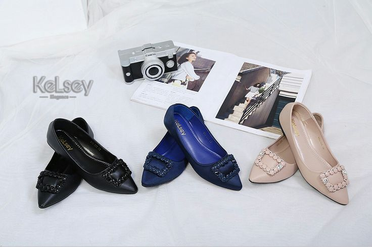 Sepatu Merek Kelsey M367 998 226 Flat Original Bahan Kulit