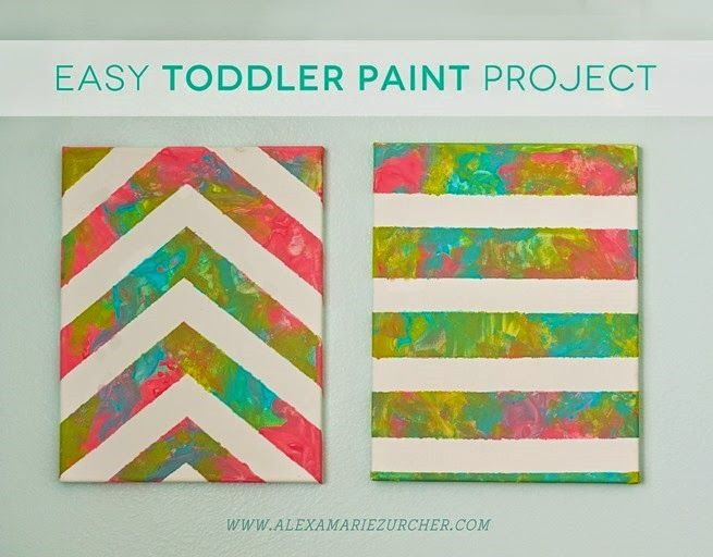 toddler painting to make their own wall decoration