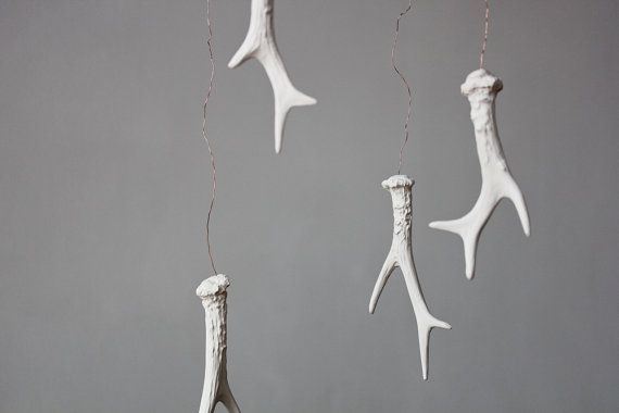 Clay Antler Mobile inspired by the Black Forest - By Laurie Poast