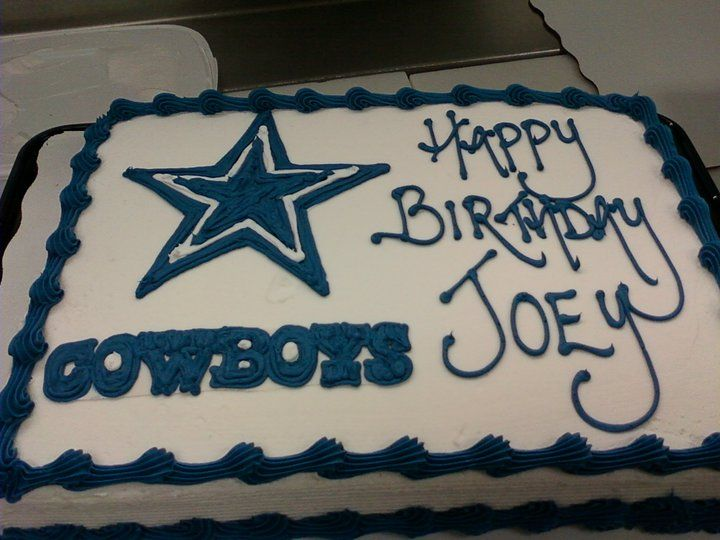 Dallas Cowboys Cake Cakes Pinterest Dallas Cowboys