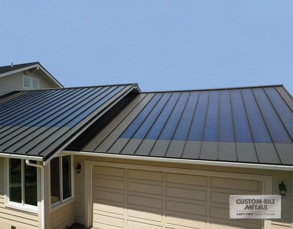 Dark Bronze Standing Seam Metal Roof Outdoors