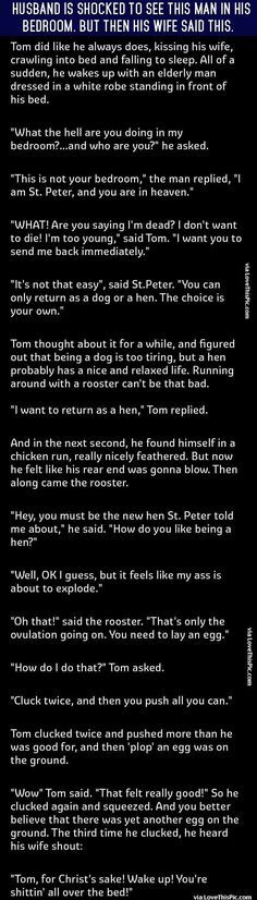 Husband Is Shocked To See This Man In His Bedroom But Then His Wife Said This funny jokes story lol funny quote funny quotes funny sayings joke hilarious humor stories marriage humor funny jokes best jokes ever best jokes
