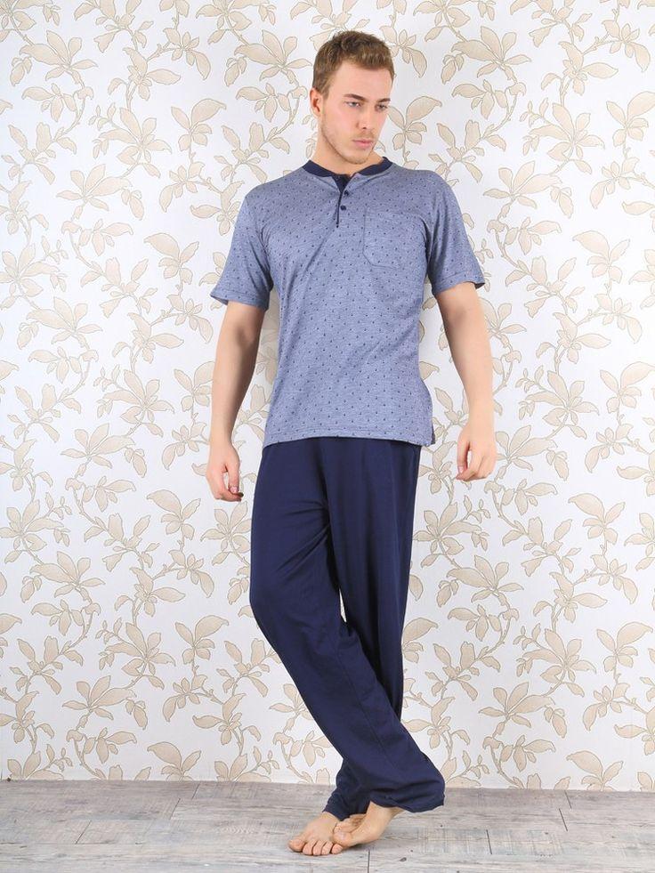 Miss Perry 8075Erkek Pijama Takım, Penye kumaştan üretilen erkek pijama takım modelidir.
