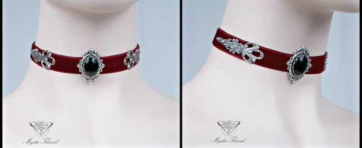 Burgundy red velvet gothic/victorian choker with jet black gem gem by Mystic Thread / e-shop: www.mysticthread.com / facebook: www.facebook.com/mysticthread.ltd / Photo by Undefiled Photography & Editing #mysticthread #choker #velvetchoker #redchoker #gothicchoker #victorianchoker #jetblackchoker #gothicaccessories #victorianaccessories #jewely #accessories