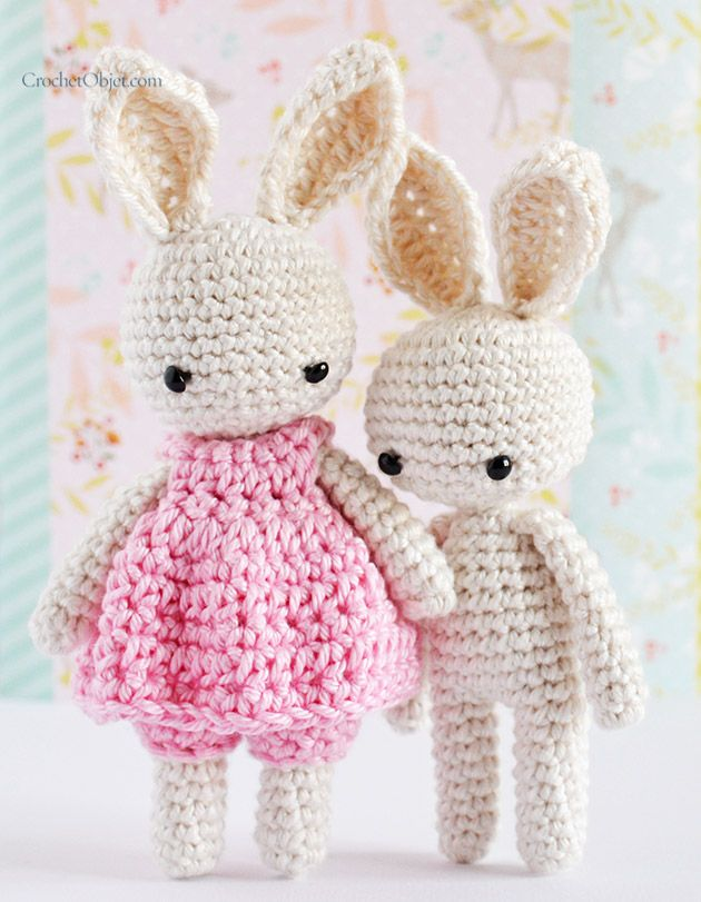 How To Crochet An Amigurumi Rabbit : 25+ best ideas about Crochet Bunny on Pinterest Crochet ...