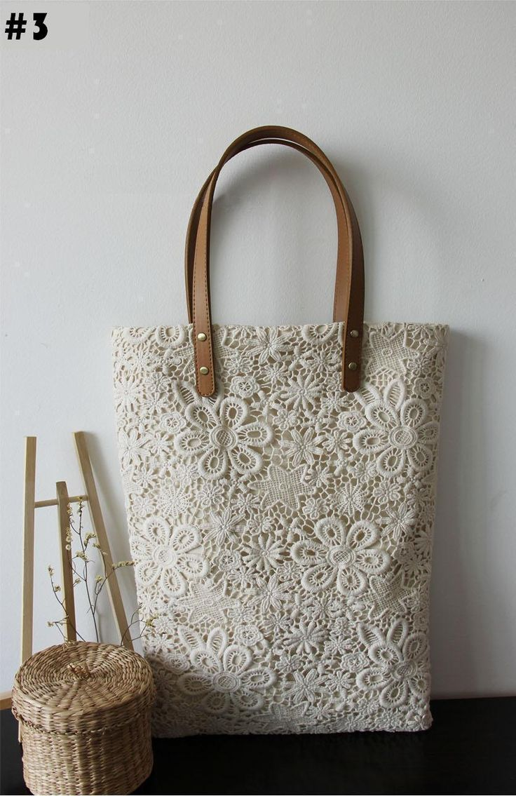 Handmade Unique & Extremely Beautiful Lace Tote, 3 style, Double Side Lace. $29.99, via Etsy.