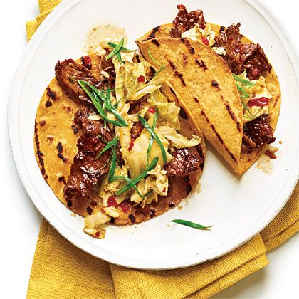 Korean-Style Beef Tacos, Cooking Light  JUNE 2012