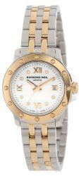 "Raymond Weil Women's 5399-STP-00995 ""Tango"" Two-Tone Mother-Of-Pearl Diamond Dial Dress Watch"