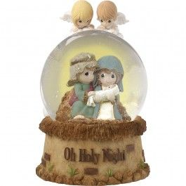 """""""Oh Holy Night"""" Musical Snow Globe, Resin/Glass"""