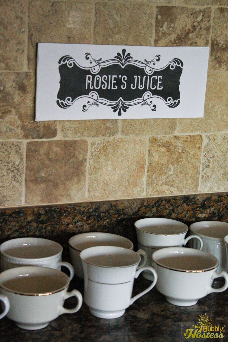 Coffee Cups for Drinks - Murder At The Juice Joint - A Murder Mystery Party - Night of Mystery | The Bubbly Hostess