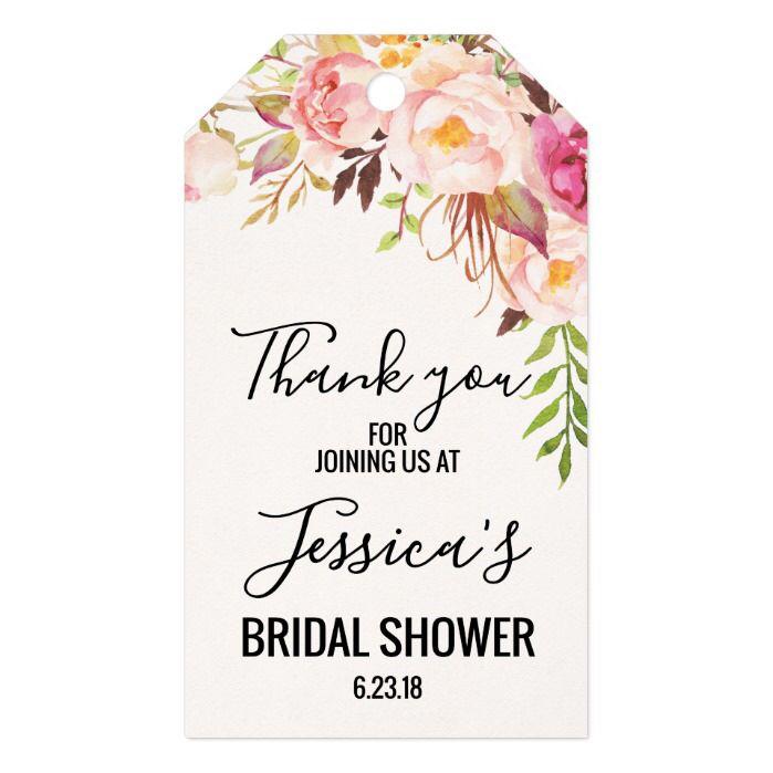 Rose Bridal Shower Tag Bridal Shower Gift Tag Bridal Shower Favor Tag Rose Bridal Shower Gift Tag Bridal Shower Thank You Tag