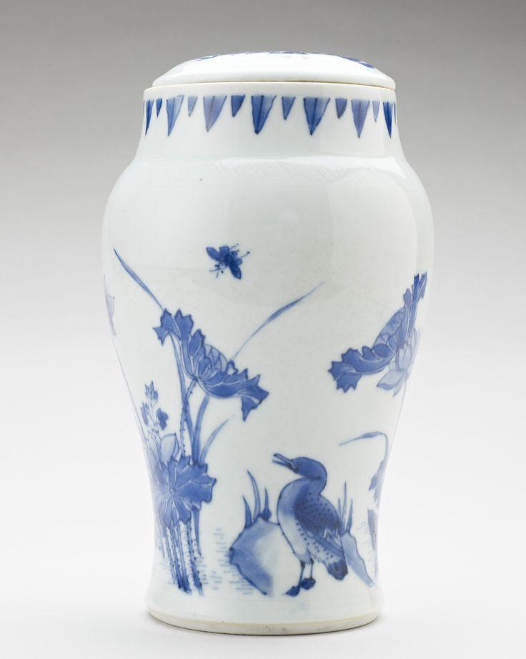 Vase, China, 1650. Porcelain painted in underglaze blue,19.0 x 10.5 cm. RCIN 1175. Royal Collection © Her Majesty Queen Elizabeth II