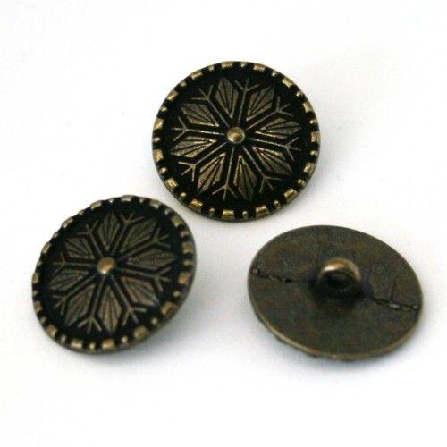Åttebladstjerne - knapp 18 mm | Garnkurven
