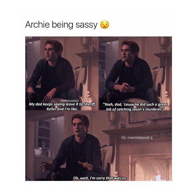 (@/riverdalepost.s) on Instagram I like sassy Archie.