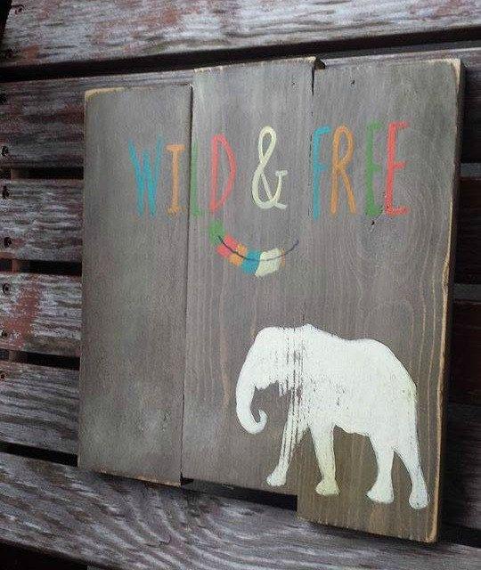 Safari Nursery Wild and Free Elephant Nursery by RusticLuvDecor