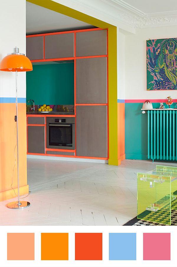 une jolie combinaison de couleurs qui donne de la profondeur et structure les pi ces de cet. Black Bedroom Furniture Sets. Home Design Ideas