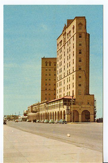 Hotel Buccaneer, Galveston TX (1940) 'on the beach' at ...