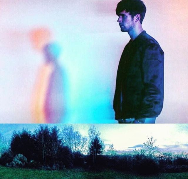 Photomashup James Blake (found image) and my Mum's garden by Lizzie Reakes