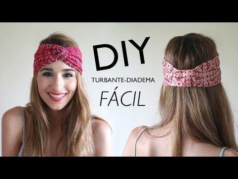 DIY   Cómo hacer turbantes-diadema (con y SIN MÁQUINA DE COSER) - YouTube