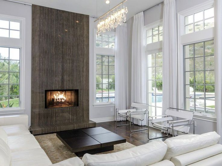131 best images about mantles and fireplaces on pinterest - Floor to ceiling fireplace ...