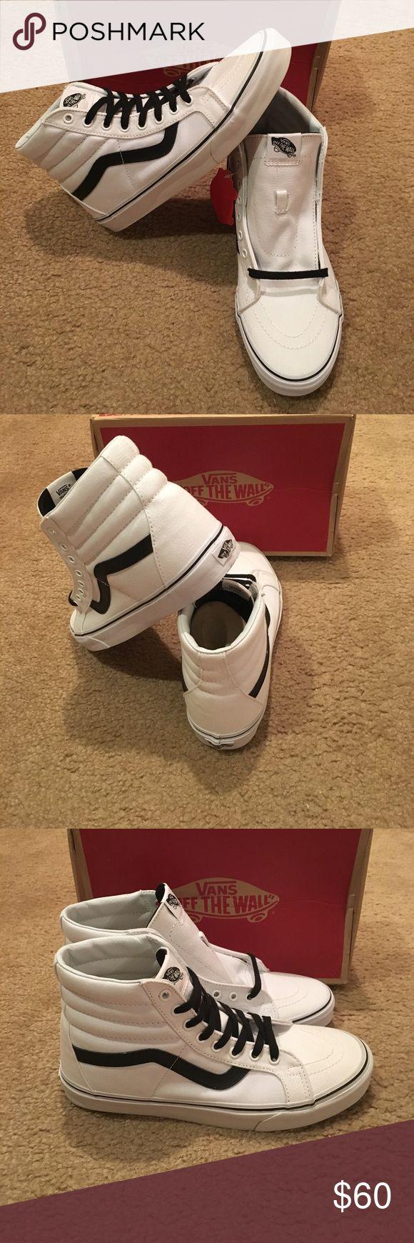 Vans Canvas Sk8Hi Reissue New in box. True white/black Vans Shoes Sneakers
