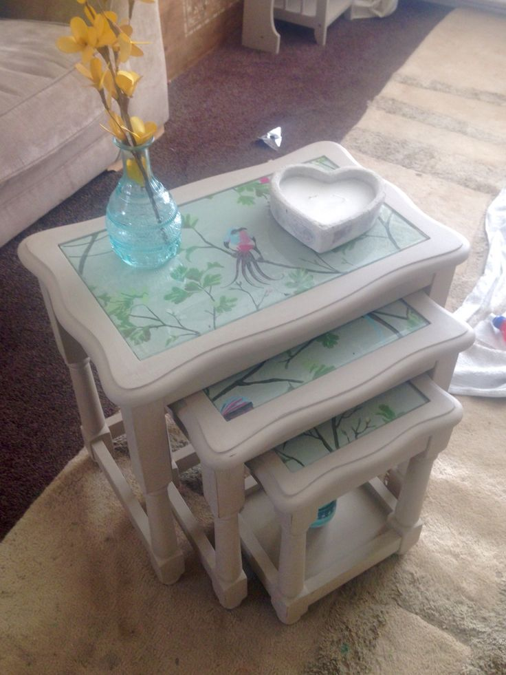Upcycled nest of tables : ahu015fap boyamalar : Pinterest : Tables, Nest and Furniture repair