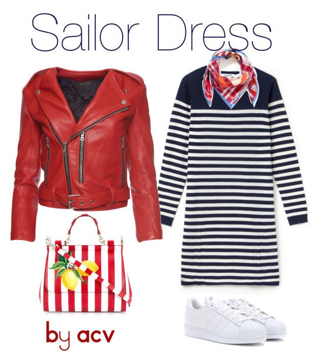 """Sailor Dress"" by amparo-calbacho on Polyvore featuring moda, Lacoste, adidas, Marc Jacobs, Dolce&Gabbana y Vivienne Westwood"
