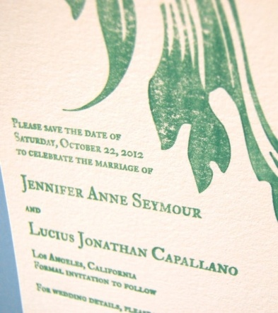 Customizable Green Leaf Wedding Invitation