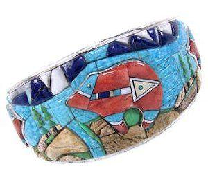 Multicolor 3-D Bear Cuff Bracelet YS67659 SilverTribe. $1016.39