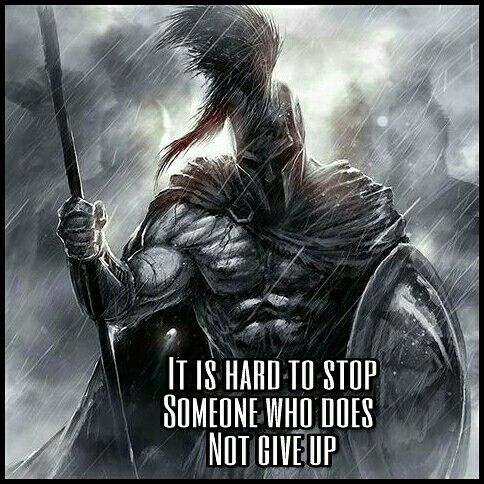 Never Give Up.