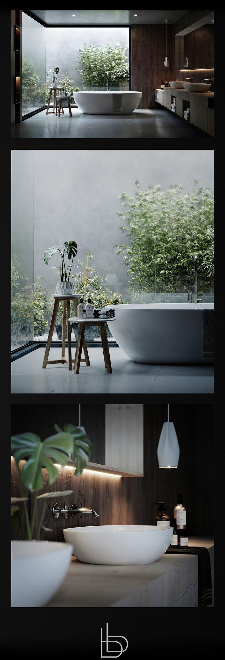 Natural Bathroom on Behance