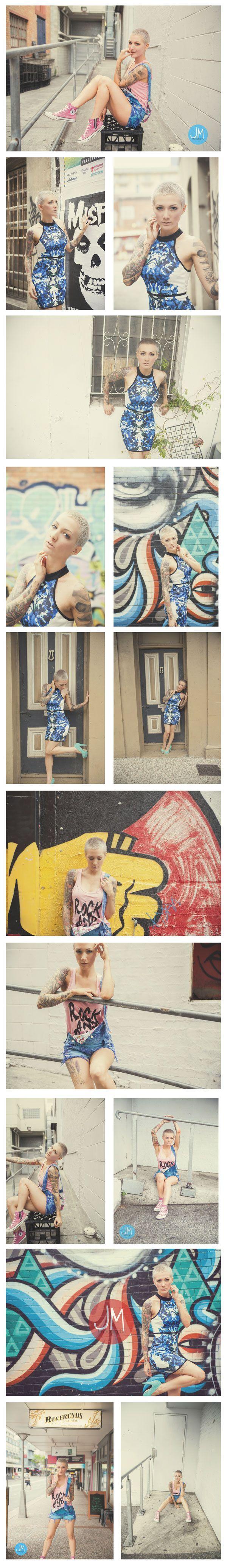 Brisbane Fashion, Portrait, Event and Wedding Photographer - Fashion Photography - Jennifer Maxsted Photography  - Urban Photoshoot
