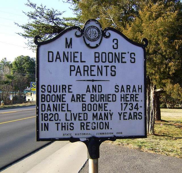 Daniel Boone, one of America's greatest frontiersmen, had North Carolina roots. His parents, Squire and Sarah Boone, lived and died in Mocksville, NC, in Davie County. The famous adventurer was the sixth of the couple's 11 children.