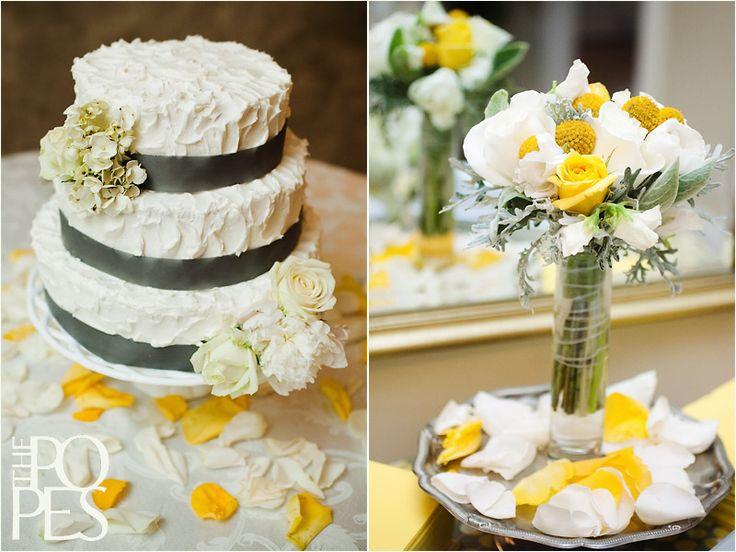 Gray and Yellow Square Wedding Cakes | Lauren and Ben | DIY Alabama Wedding | Part 1 » Seattle Wedding ...
