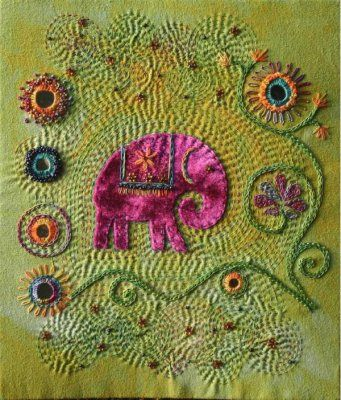 EMBELLISHED ELEPHANT by stef francis