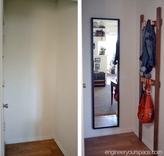 Small Foyer Coat Rack : Easy diy coat rack for the tiniest entryway déco