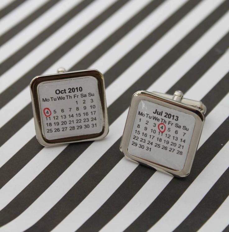 personalised calendar cufflinks by posh totty designs boutique | notonthehighstreet.com