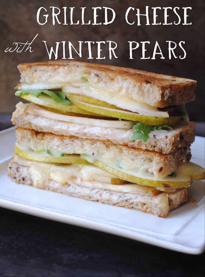Grilled cheeses, Pears and Winter on Pinterest