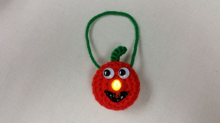 Jack-O-Lantern Lighted Ornament - Free Pattern